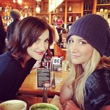 Ashley Tisdale went to breakfast with a friend. Source: Instagram user ashleytis