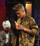 Justin Bieber had a make-out session with a mannequin on Late Night With Jimmy Fallon.