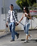 Mila Kunis and Ashton Kutcher were hand in hand for a walk around LA in October 2012.