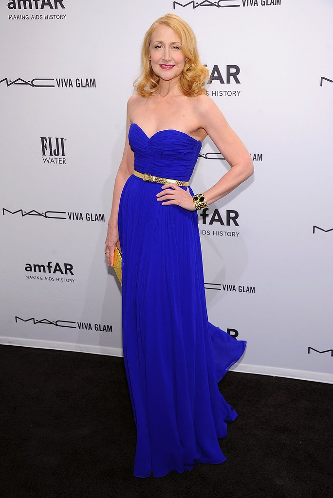 Patricia Clarkson wore a cobalt blue Michael Kors gown with a thin gold belt.