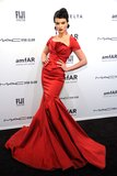 Crystal Renn attended the amfAR New York Gala.
