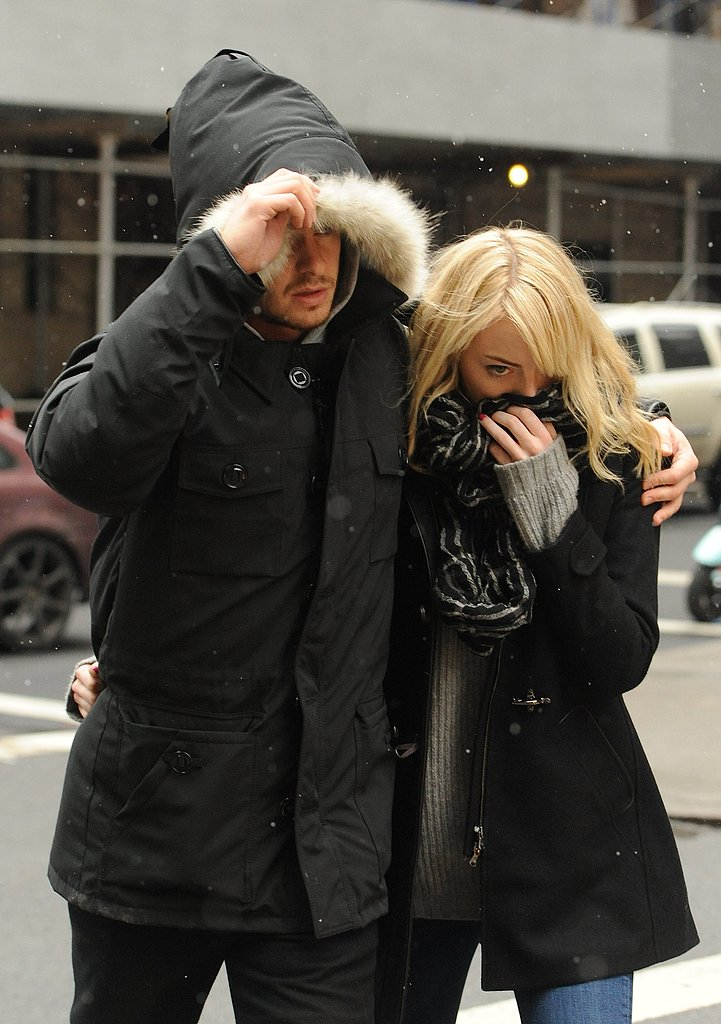 Emma Stone and Andrew Garfield Brave the NYC Snow Together
