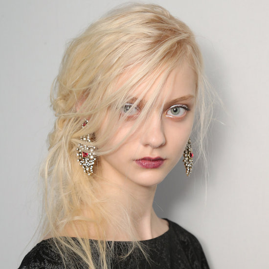 Hair and Makeup Fit For a Wintery Ice Princess at Tadashi Shoji