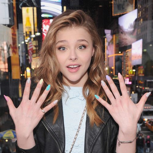 Chloe Moretz 16th Birthday: See Her Cool, Textured Nail Art