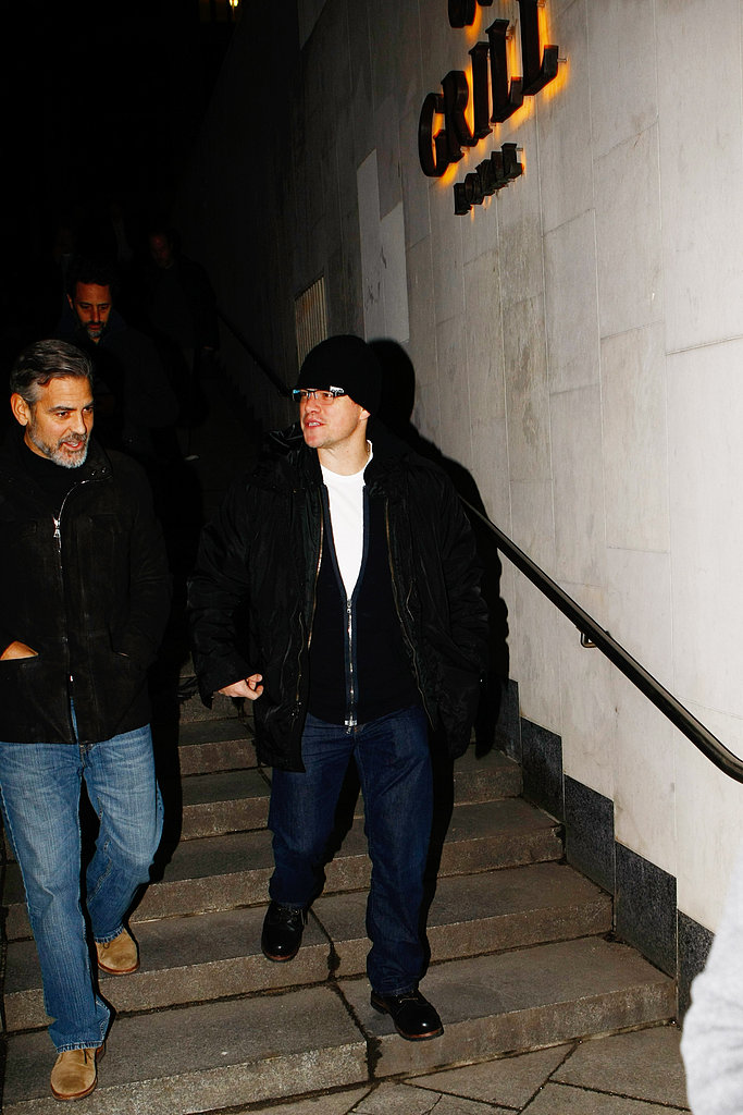 George Clooney and Matt Damon Grab Dinner in Berlin