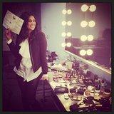 Rachel Roy shared a sneak peek of the makeup look for her upcoming runway show. Source: Instagram user rachel_roy