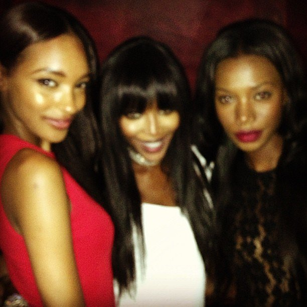 Jourdan Dunn posed with Naomi Campbell at the premiere of The Face. Source: Twitter user missjourdandunn