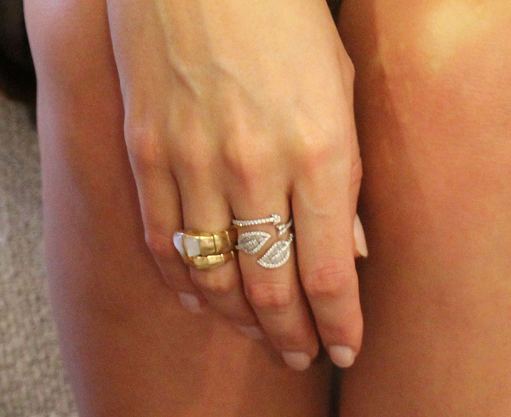 More close-ups; this time Miranda's collection of finger bling.
