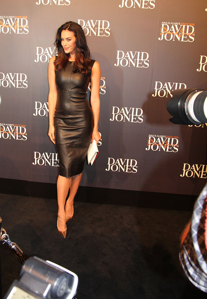 Megan Gale = incredibly sexy in a Lisa Ho leather number.