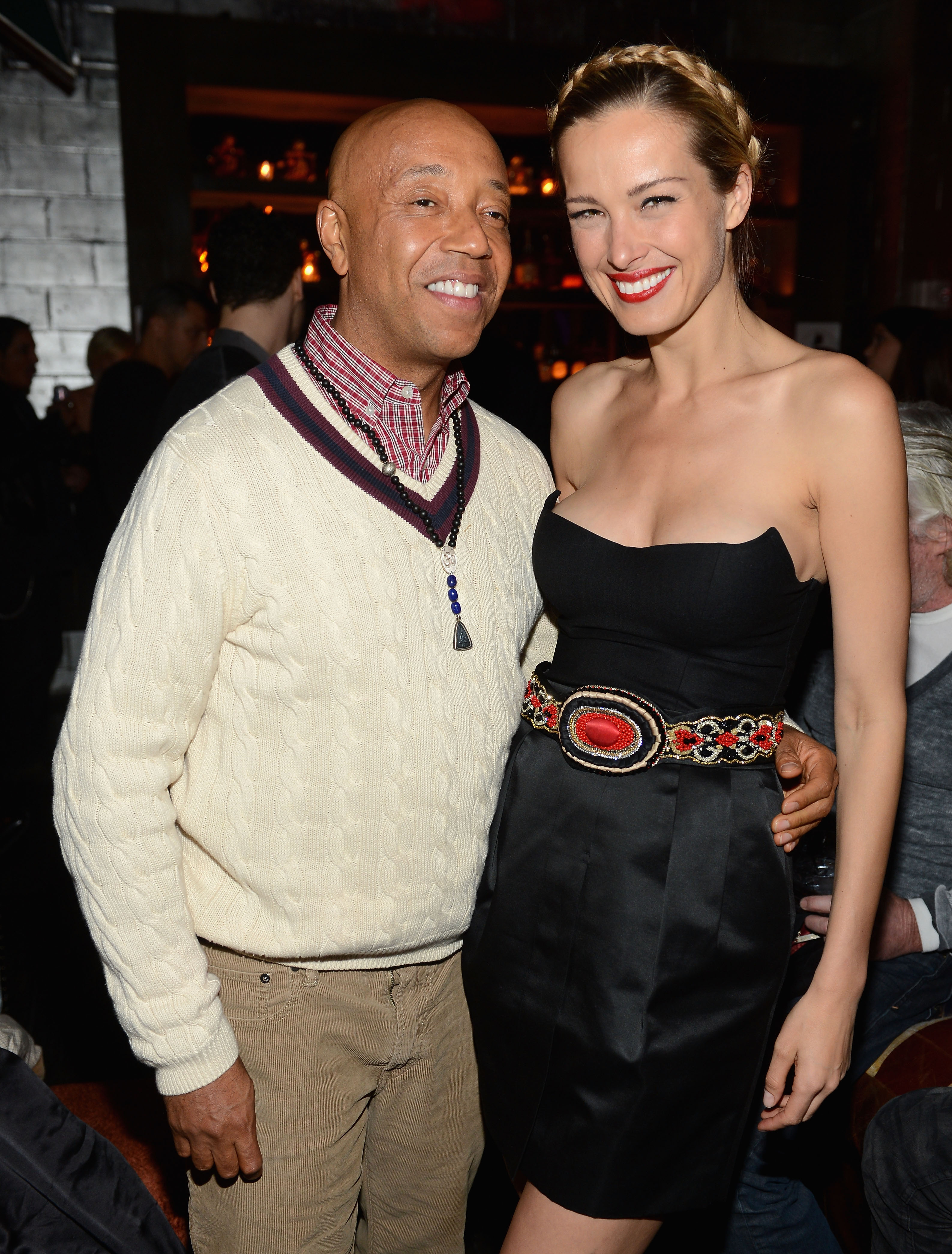 Russell Simmons and Petra Nemcova
