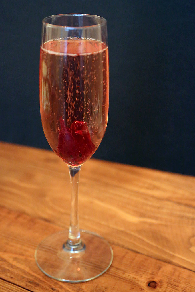 Hibiscus Sparkling Wine Cocktail