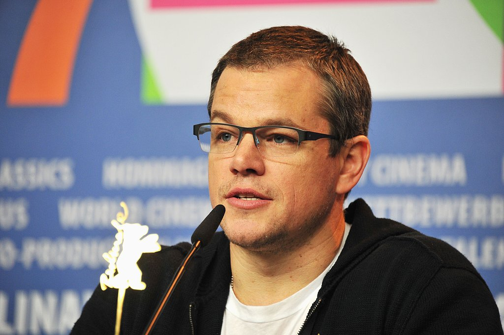 Matt Damon attended a press conference for Promised Land at the Berlin Film Festival.