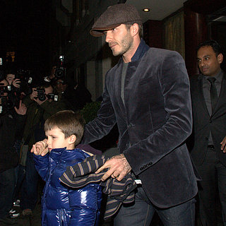 David Beckham and His Sons at Tamarind Restaurant in London