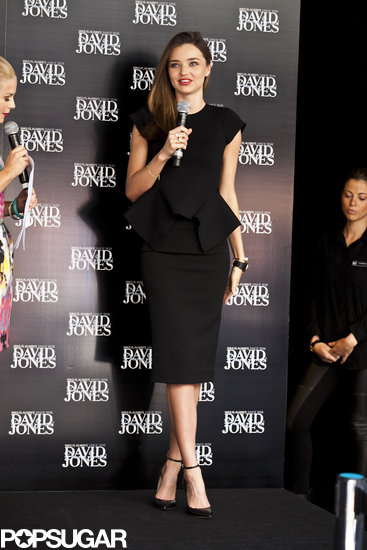 Miranda Kerr made an appearance at a David Jones department store in Melbourne, Australia on Friday.