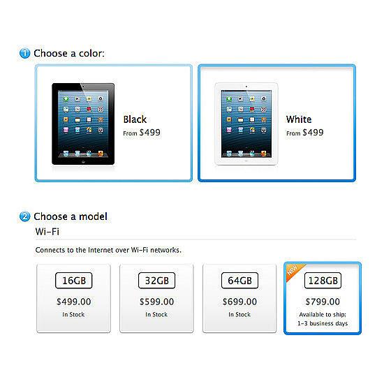 128GB iPad Retina Hits Stores