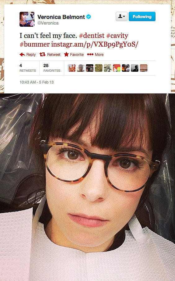 Tekzilla's Veronica Belmont gets a good dose of anesthetic. If only there was postfilling footage.