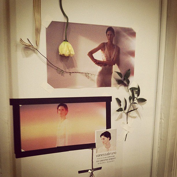 The inspiration board for the Vanessa Bruno pop-up store.