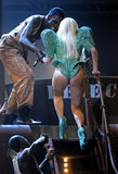 """Lady Gaga showed """"some bare flesh under curves of the buttocks and buttock crack"""" in 2010."""