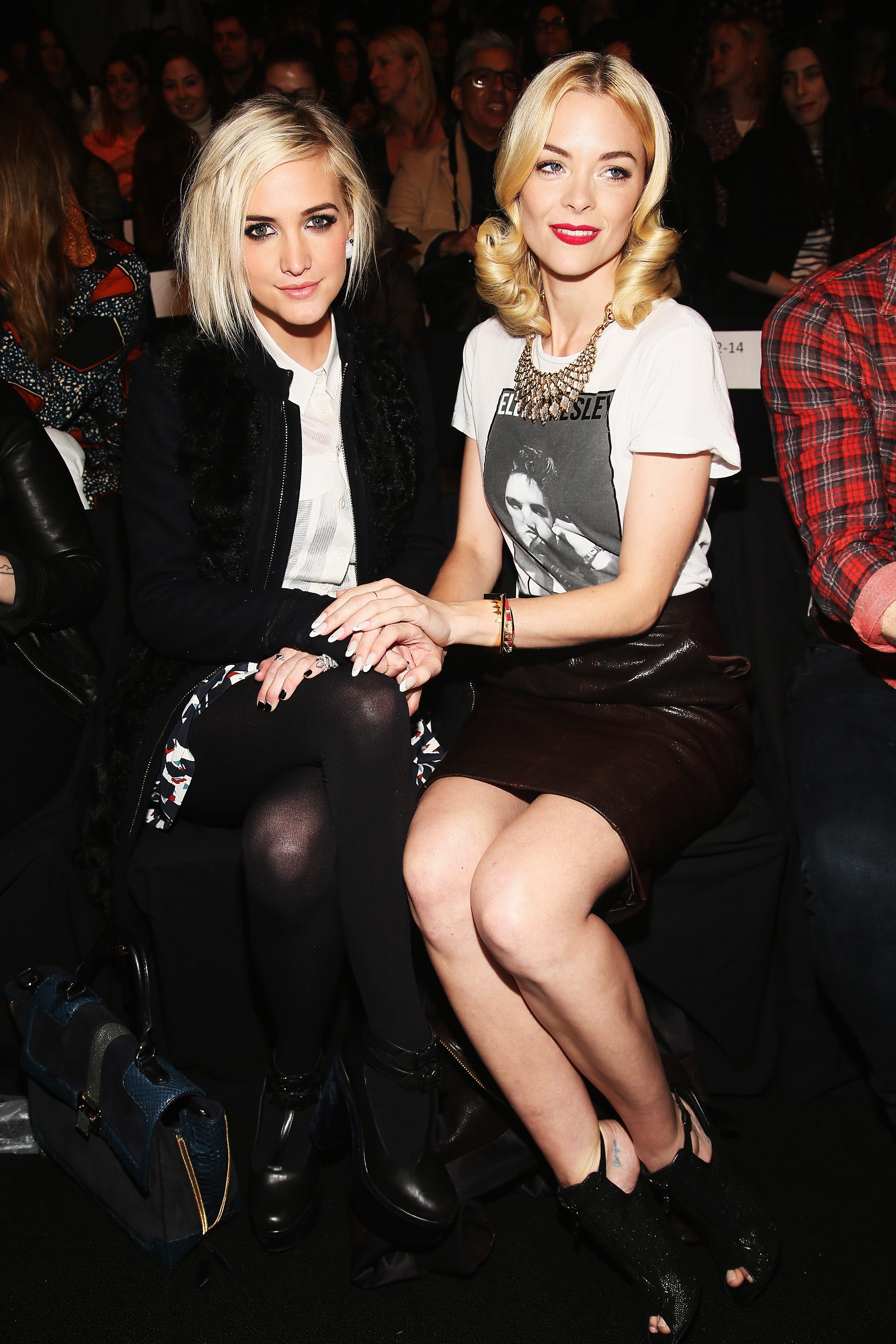 Ashlee Simpson and Jaime King sat front row for Rebecca Minkoff's Fall collection on Friday.
