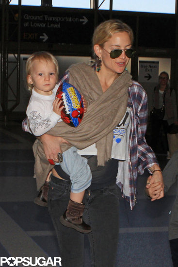 Kate Hudson Flies the Smiley Skies With Ryder and Bingham