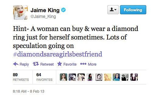 Jaime King knows what's going on.