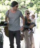 Chris Hemsworth spent time with his wife, Elsa Pataky, and daughter India Hemsworth in Santa Monica, CA.