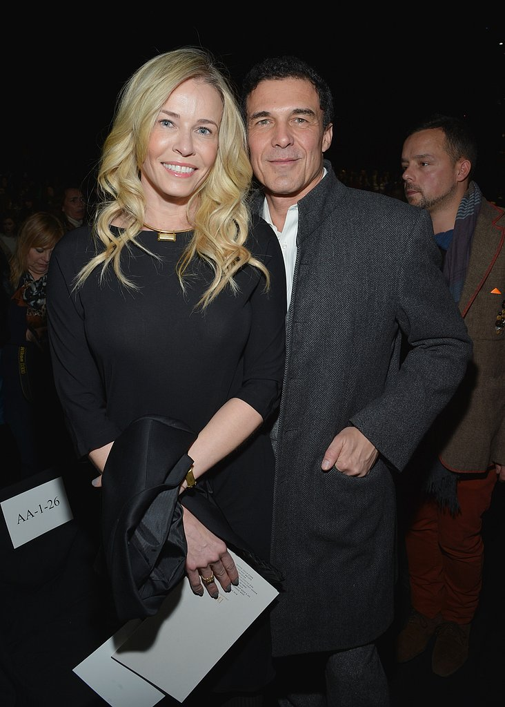 Chelsea Handler cuddled up with André Balazs at Diane von Furstenberg's Saturday show.