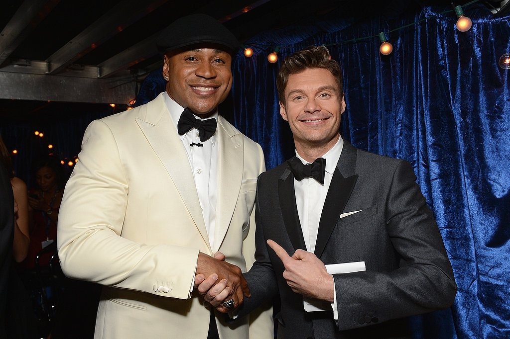 Host LL Cool J shook hands and posed for a backstage pic with Ryan Seacrest.