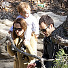 Natalie Portman Takes Aleph Millepied to a Garden
