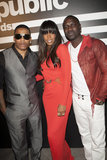 Kelly Rowland attended an event with Nelly and Akon at the Emerson Theater in Hollywood.