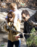 Natalie Portman, Benjamin Millepied, and their son, Aleph Millepied, spent an afternoon out at LA's Huntington Botanical Gardens in February 2013.