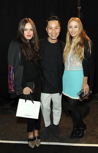Designer Phillip Lim posed with Atlanta de Cadenet and Harley Viera Newton at his show.