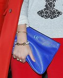 Custom details give this cobalt clutch an extra special touch.