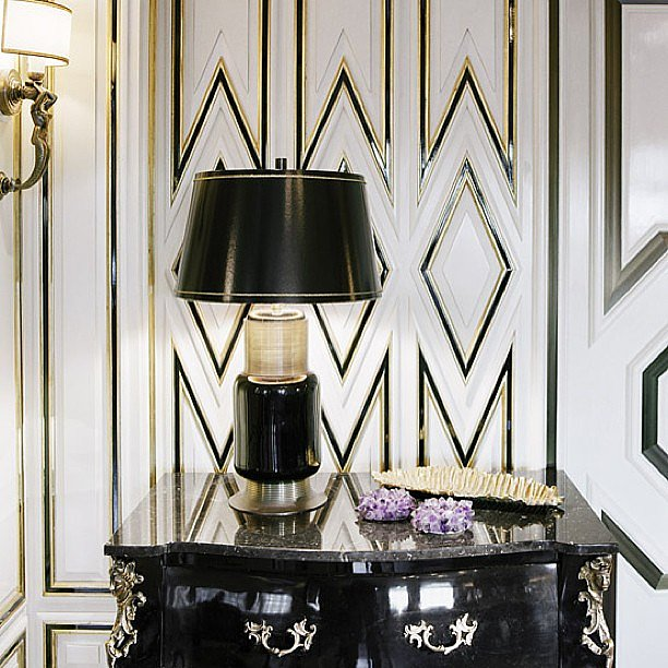 A graphic black-and-white vignette at Bergdorf.