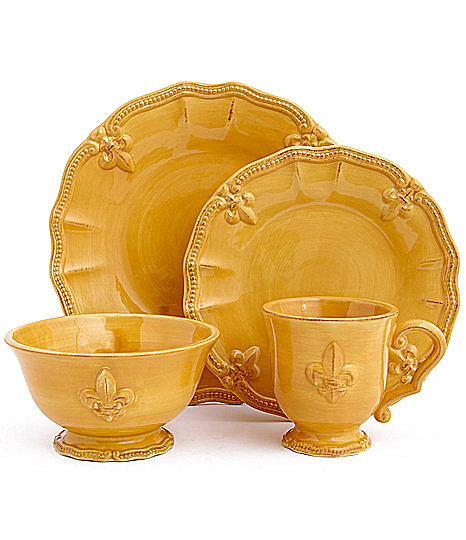 This fleur-de-lis dinnerware ($8-$40) is fitting for Mardi Gras but also versatile enough to use every day.
