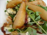 Caramelized Pear and Rocket (Arugula) Salad With Blue Cheese