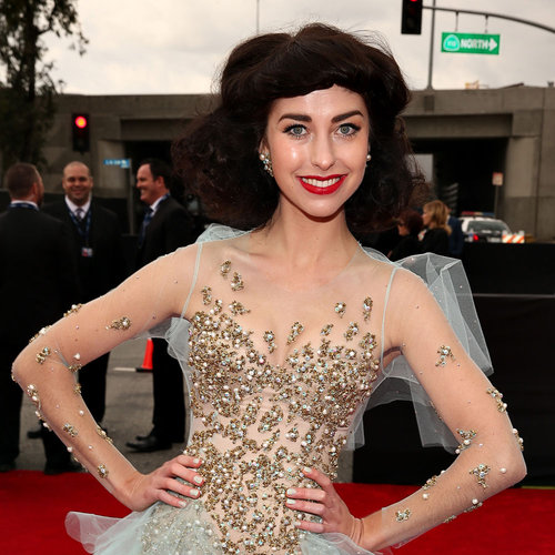 Pictures of Kimbra at the 2013 Grammy Awards