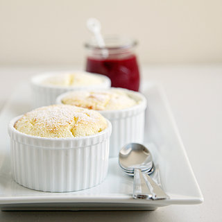 Lemon Souffles With Raspberry Sauce