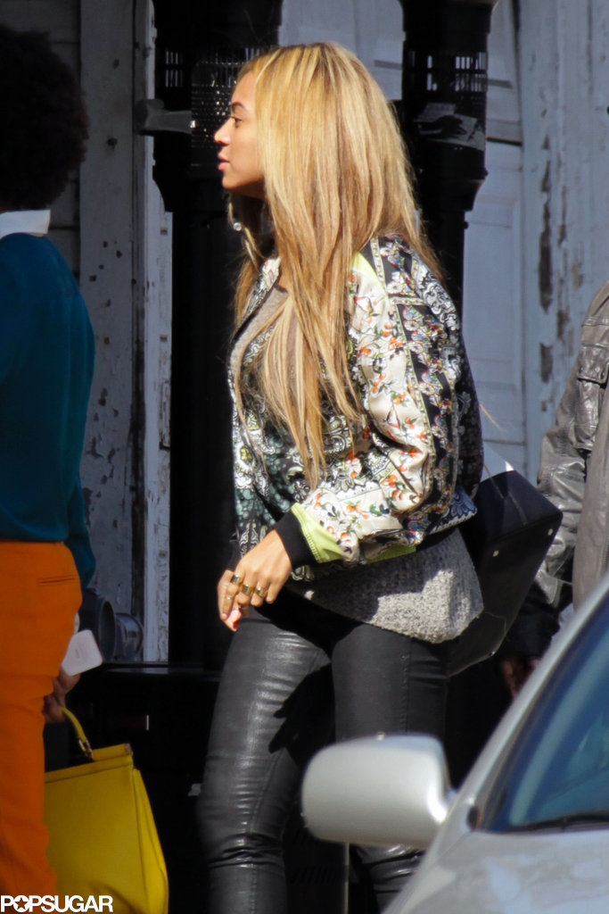 Beyoncé showed off her blond hair in LA.