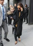 Victoria Beckham brought daughter Harper along to New York Fashion Week.