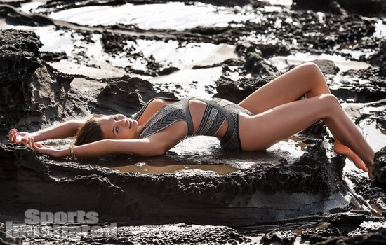 Chrissy Teigen struck a sexy pose in Chile for the Sports Illustrated Swimsuit Issue.