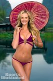 Anne Vyalitsyna wore a purple two-piece in China.