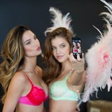Victoria's Secret shared a photo of two Angels at work. Source: Instagram user victoriassecret