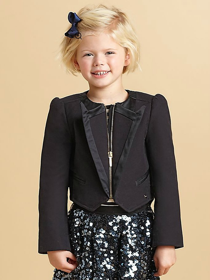 More and more starlets are stepping out in blazers and pantsuits, and if that's your little one's style, she'll like this mini tuxedo blazer ($139, originally $198).