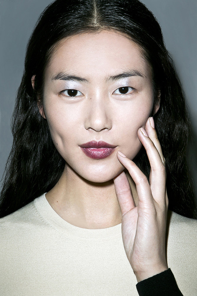 Nail artist Jin Soon Choi picked two nude colours for the nails: Estée Lauder polish in So Vain for darker skin tones and Nudité for fairer models.