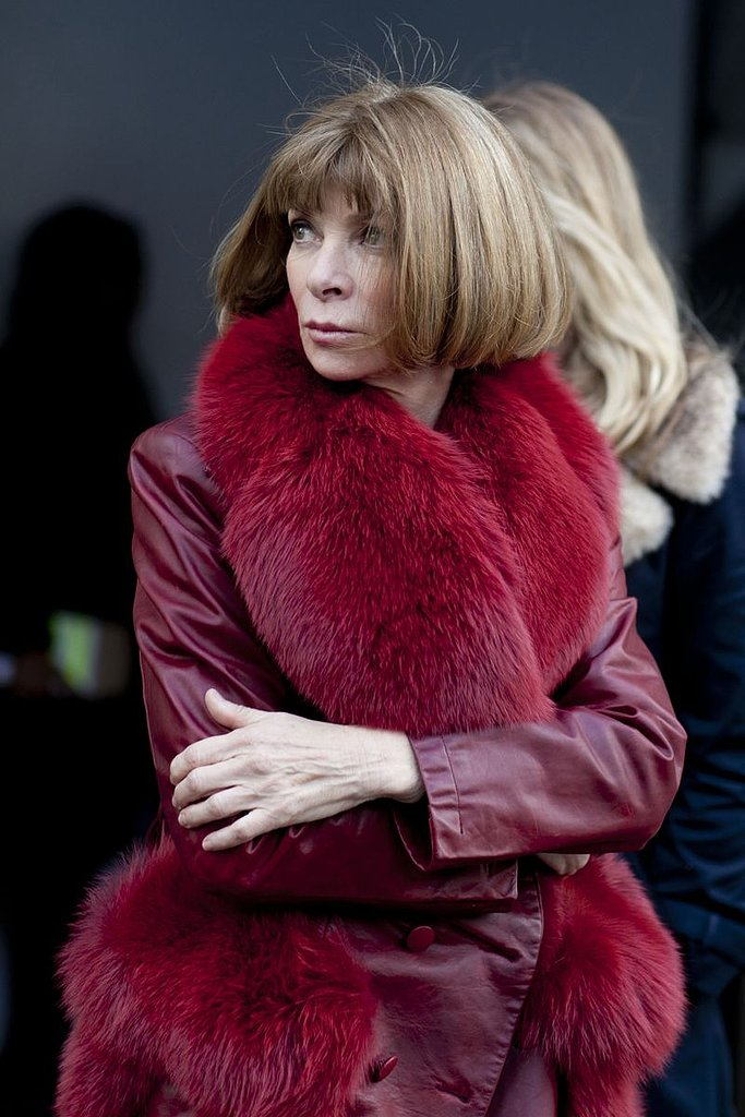 Anna Wintour's bob looked just as sleek as usual as she walked about Lincoln Center.