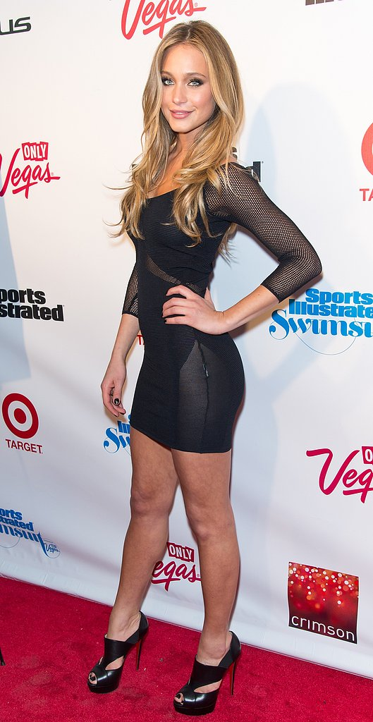 Hannah Davis posed on the red carpet.