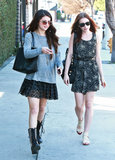 Selena Gomez and Lily Collins grabbed lunch in Studio City.