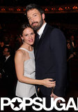 Ben Affleck hugged Jennifer Garner after winning big at the BAFTA Awards.