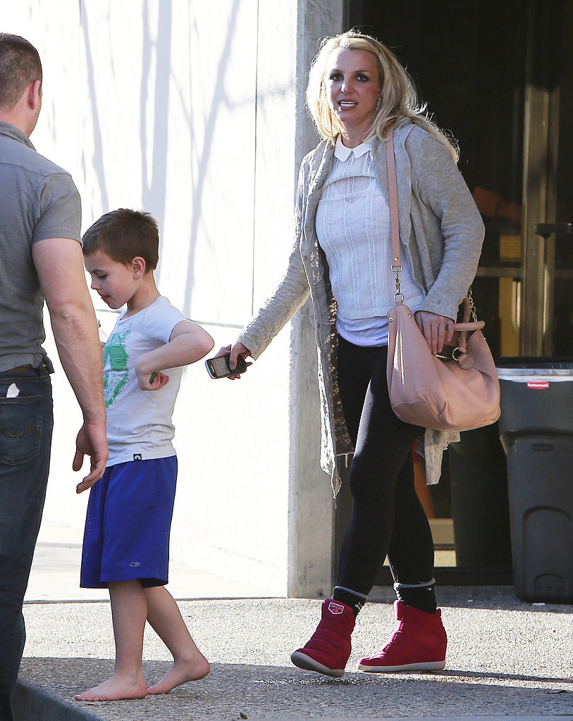 Britney Spears took her kids to an indoor play
